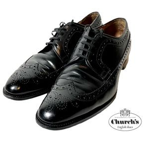 Church's Custom Grade Wing Tip Leather Shoes